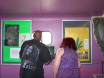 Charlie W and Michelle L. admire some exhibits in the museum